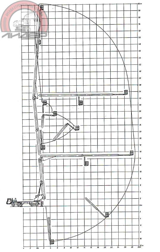 Автовышка 60 метров схема