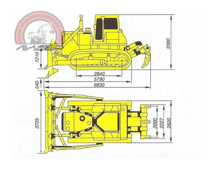 Бульдозер Shantui SD-32 размеры